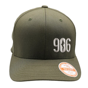 "Hat - ""906"" Olive FlexFit Structured Cap"