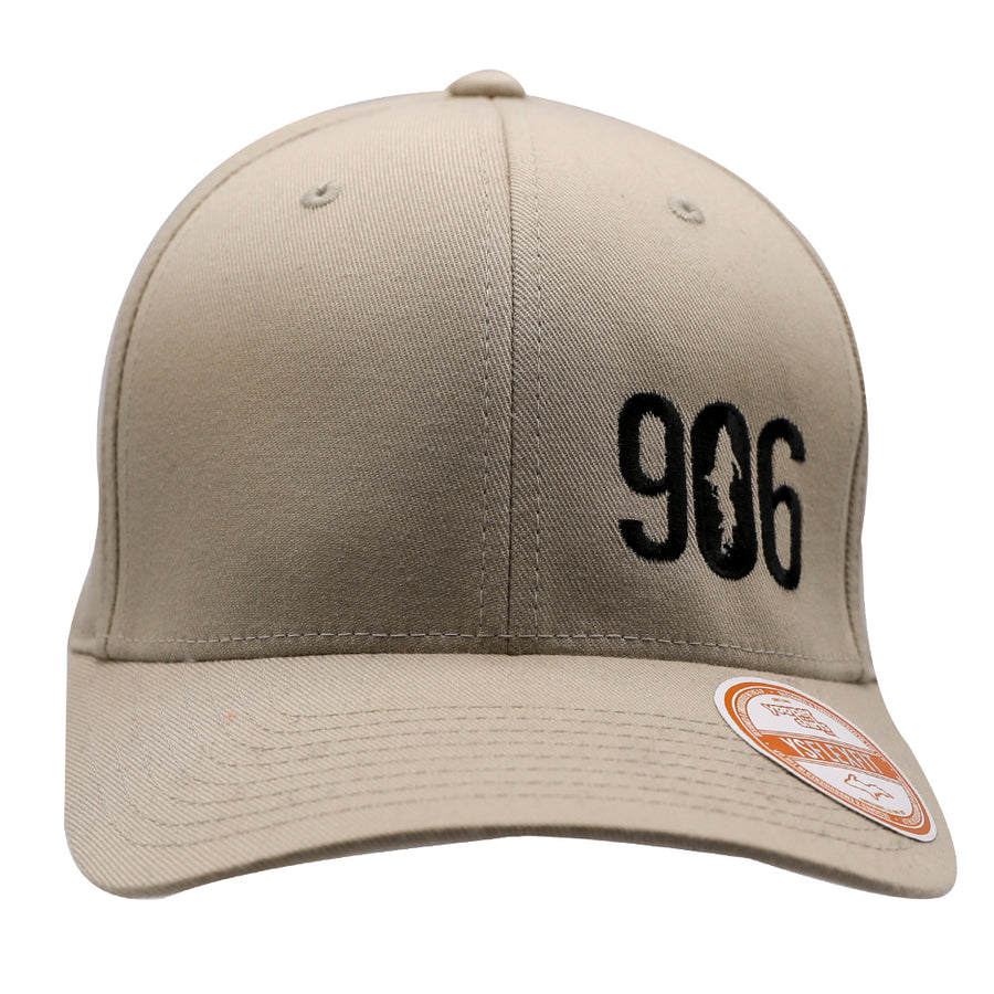 "Hat - ""906"" Stone FlexFit Structured Cap"