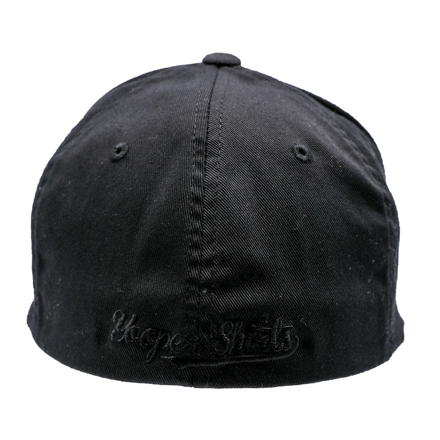 "Hat - ""U.P. Silhouette (Corner)"" Black FlexFit Structured Cap"