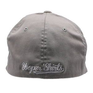 "Hat - ""U.P. Silhouette (Corner)"" Grey FlexFit Structured Cap"