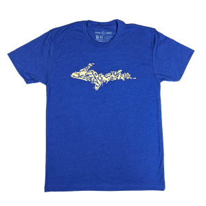 """YOOPER ICON"" Heather Royal T-Shirt"