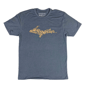 """YOOPER ICON"" Indigo T-Shirt"