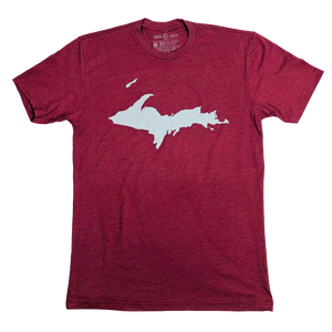 """U.P. Silhouette (Islands)"" Cardinal T-Shirt"