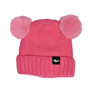 "INFANT Beanie - ""Upper Peninsula"" Hot Pink Baby Ears Beanie"
