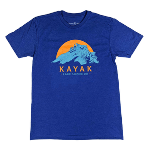 """Kayak Superior"" Heather Royal T-Shirt"