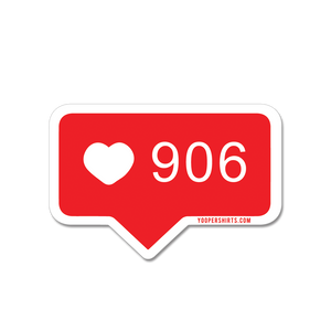 "Sticker - ""Love 906"" 3"" Window Decal"