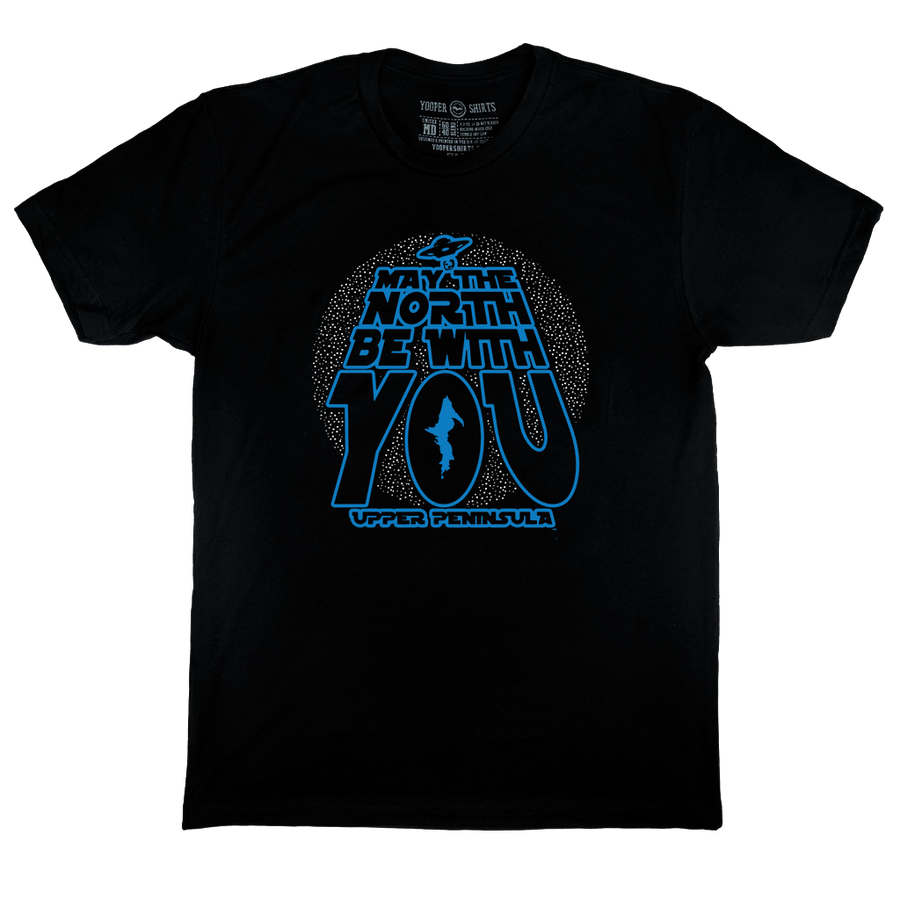"""MAY THE NORTH BE WITH YOU"" Black T-Shirt"