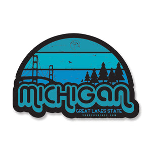 "Sticker - ""Michigan HORIZONS"" 5"" Window Decal"