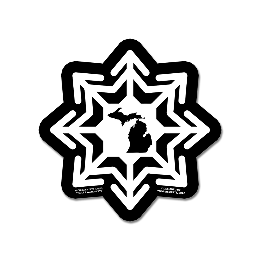 "Sticker - ""Michigan Snowflake"" 3"" Window Decals"
