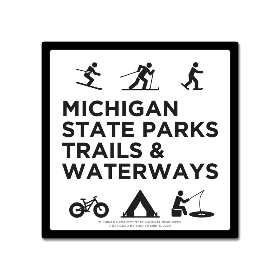 "Sticker - ""Michigan State Parks/Things To Do"" 3"" Window Decals"