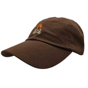 "Hat - ""Michigan Flame"" Brown Classic Dad's Cap"