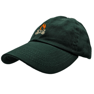 "Hat - ""Michigan Flame"" Forest Green Classic Dad's Cap"