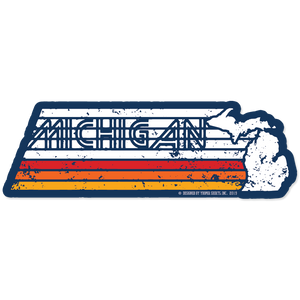 "Sticker - ""Michigan Faded"" 6"" Window Decal"