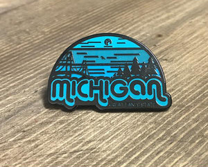 "Pin - ""Michigan Horizons"" 1-1/4"" Enamel Pin"
