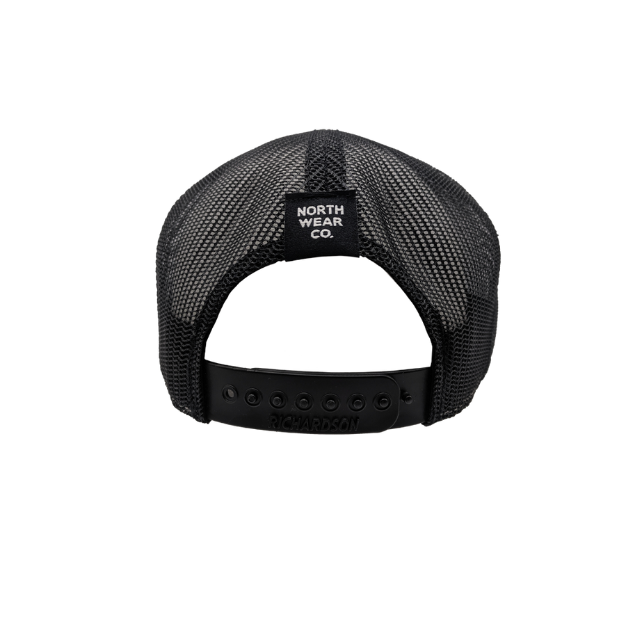"Hat - ""NWCo. (Icon)"" 3D PUFF Heather Grey/Black 7-Panel Trucker Hat"
