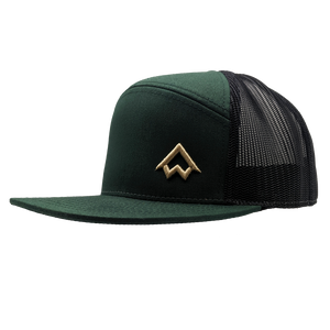 "Hat - ""NWCo. (Icon)"" 3D PUFF Dark Green/Black 7-Panel Trucker Hat"