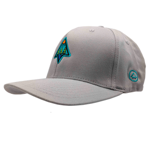 "Hat - ""Outdoors"" Silver FlexFit Structured Cap"