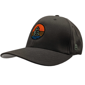 "Hat - ""Tree Icon (Sunrise)"" Dark Grey FlexFit Structured Cap"