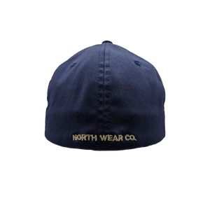 "Hat - ""Yellow Dog"" Navy Flexfit Structured Cap"