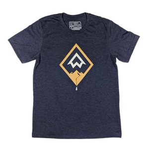 """Diamond Drip"" Heather Navy T-Shirt"