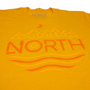 """NORTH MTNS"" Heather Gold T-Shirt"