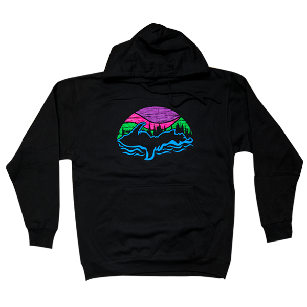 """U.P. Northern Lights"" Black Midweight Hoodie"