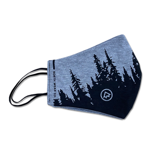 "Face Mask - ""OUTSIDER"" Reusable Heather Grey Non-Medical Grade Face Mask (ADULT)"