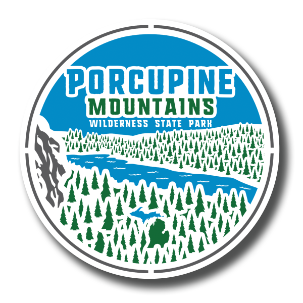 "Sticker - ""Porcupine Mountains"" 3"" Window Decals"