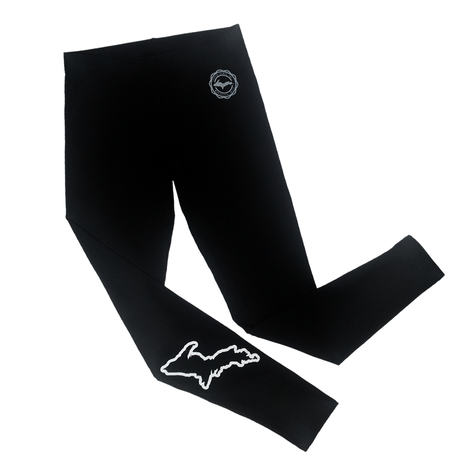 """U.P. Silhouette"" Ladies' White on Black Legging"