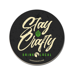 "Coaster - ""Stay Crafty"" Coaster"