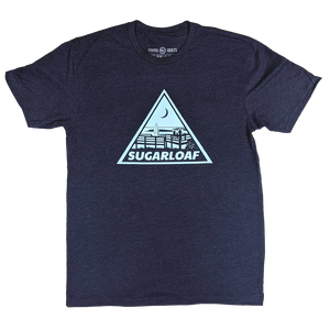 """Sugarloaf"" Heather Navy T-Shirt"