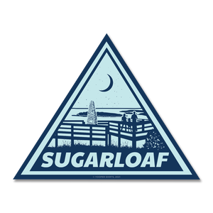 "Sticker - ""Sugarloaf"" 4"" Light Navy Window Decal"