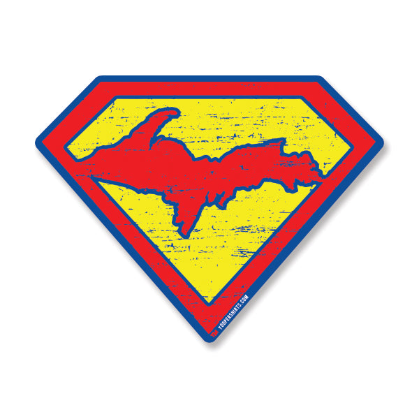 "Sticker - ""SUPER YOOPER"" 6"" Window Decals"