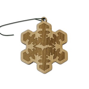 "*Wood Ornament - ""U.P. Snowflake"""