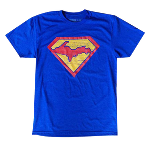 """SUPER YOOPER"" Heather Royal T-Shirt"