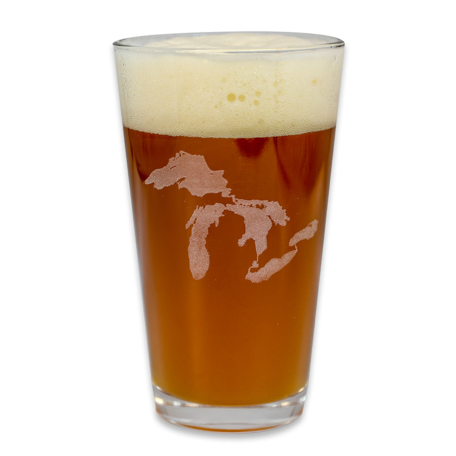 """Great Lakes"" 16 oz. Pub Glass"