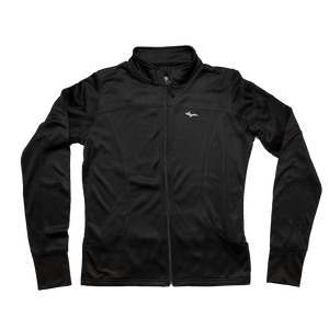 """U.P. Silhouette"" Women's Black Poly-Tech Zip-UP Track Jacket"