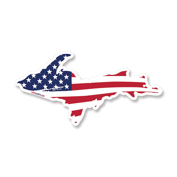 "Sticker - ""U.P. AMERICA"" 7"" Window Decal"
