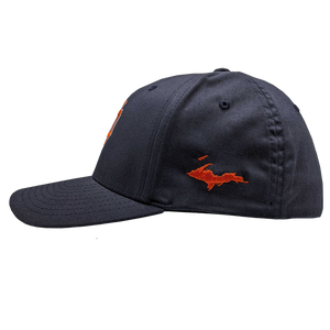 "Hat - ""U.P. Emblem"" Dark Navy FlexFit Structured Cap"