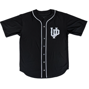 """U.P. Emblem (Retro)"" Black Full Button Baseball Jersey"