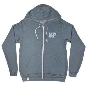 """U.P. LEGEND"" Heather Slate Zip-UP Hoodie"