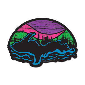 "Sticker - ""U.P. Northern Lights"" 5"" Window Decal"