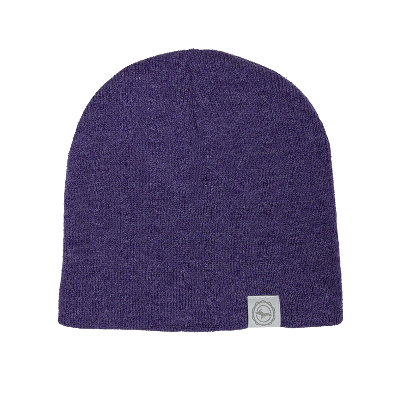 "Beanie - ""U.P. Seal"" Heather Purple 8"" Beanie"