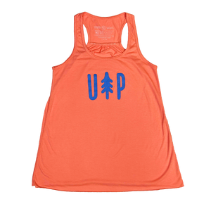 """UP Tree"" Women's Coral Flowy Racerback Tank"