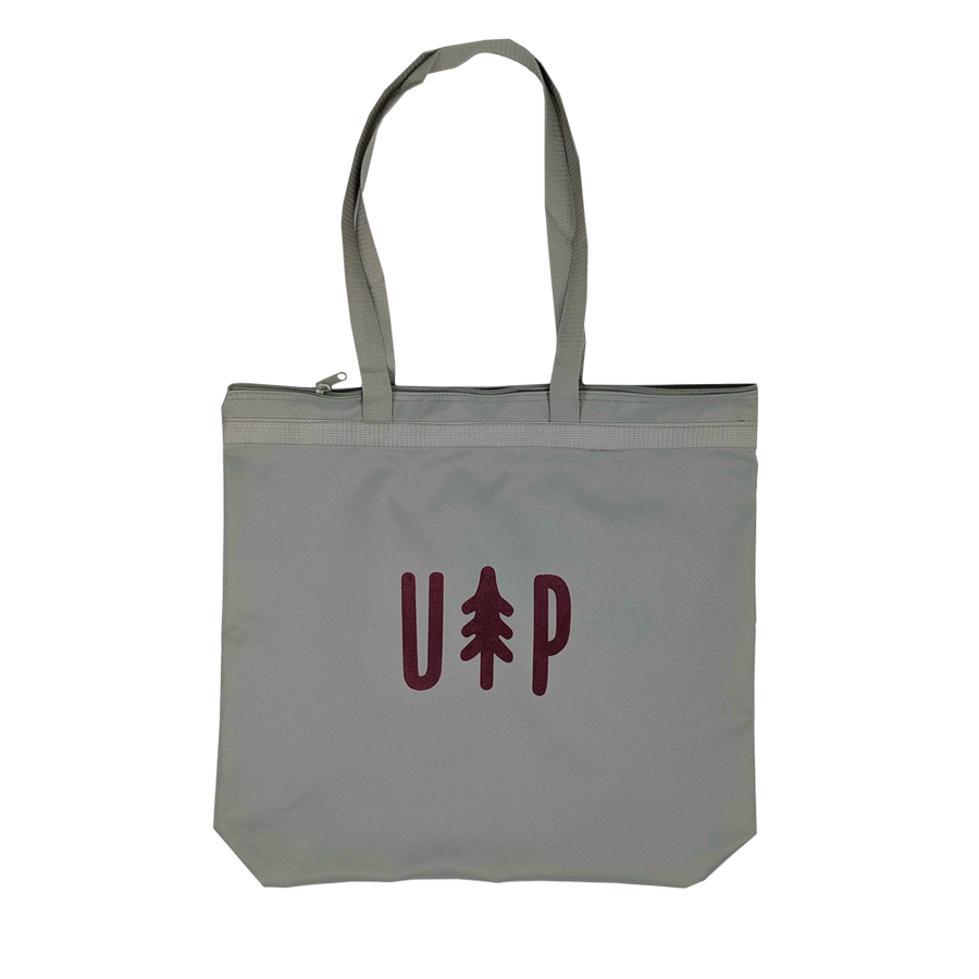 """UP Tree"" Grey Zipper Tote"
