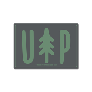 "Sticker - ""UP Tree"" 3"" Charcoal Window Decal"