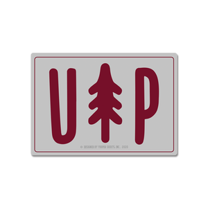 "Sticker - ""UP Tree"" 3"" Grey Window Decal"