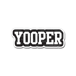 "Sticker - ""YOOPER"" 3"" White/Black Window Decal"