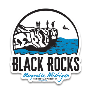 "Sticker - ""Black Rocks"" 4"" Window Decal"