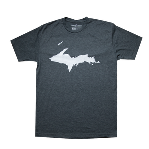 """U.P. Silhouette (Islands)"" Charcoal T-Shirt"